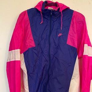 Nike Hood Windbreaker zipup  L Pink Purple Jacket
